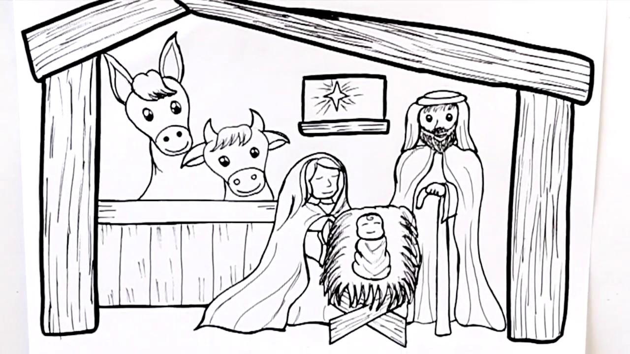 Dibujos Impresionantes De Navidad.Como Dibujar Un Portal De Belen Dibuja Conmigo Dibujos De Navidad