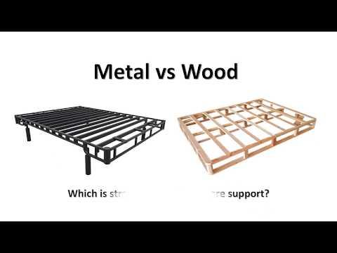 Metal vs Wood video Bed Foundation