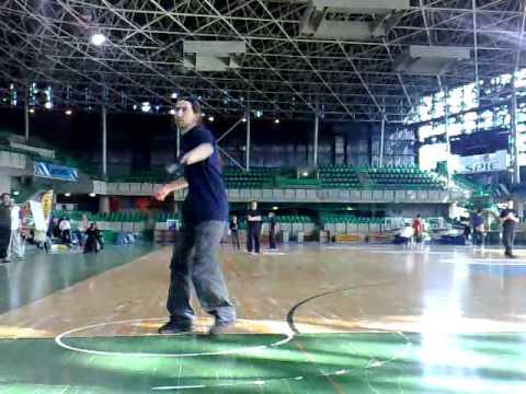 Boomerang : Démo de Fastcatch par Laurent Froment / palais des sports de Nantes.