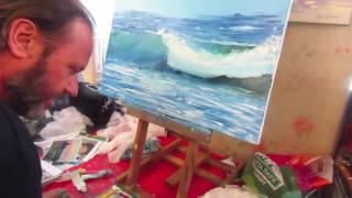 Игорь Сахаров, научиться рисовать маслом морской пейзаж