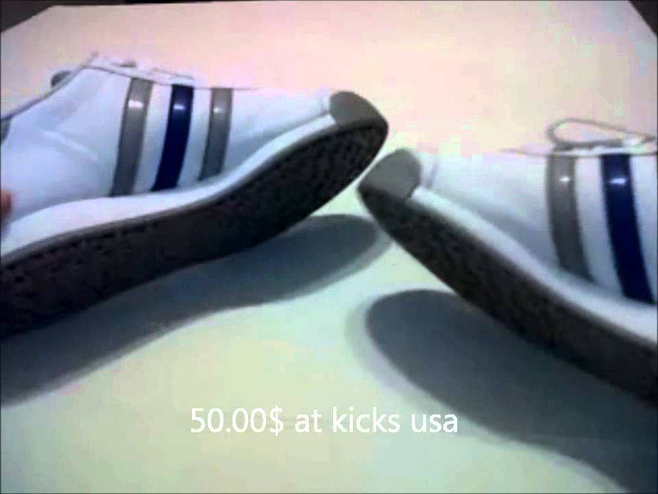 5016a20a324528 Adidas  Samoa Review (White Blue grey)   (ON- FEET) - YouTube