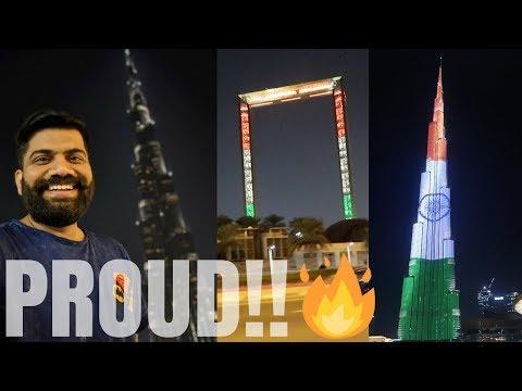 Indian Flag on Burj Khalifa 🇮🇳 🇮🇳 🇮🇳