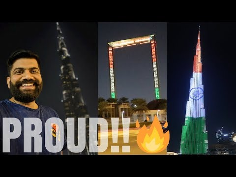 Indian Flag on Burj Khalifa 🇮🇳 🇮🇳 🇮🇳