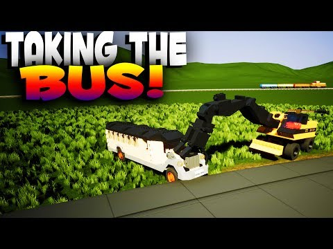 Brick Rigs Game | TAKING THE BUS! Best User Creations & More! | Lets Play Brick Rigs Gameplay