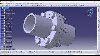 Assembly Design of Flange Coupling-Catia V5 Tutorial.