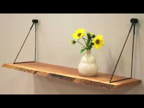Wandplank Met Verborgen Ophangsysteem.Hangplank Sling Uniek Ophangsysteem Voor Wandplanken Youtube