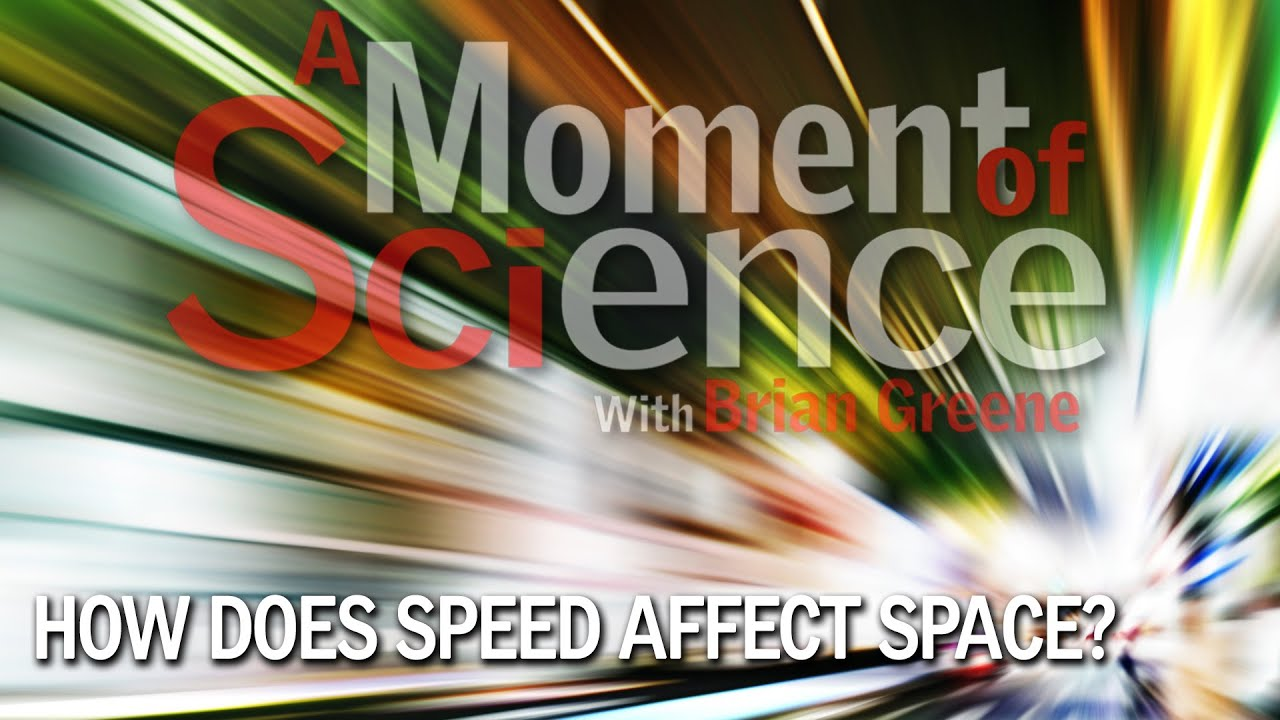 How does speed affect space?
