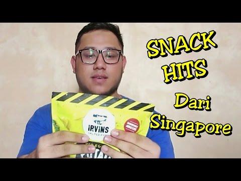 ICIP-ICIP   IRVINS SALTED EGG CHIPS : Snack Hits dari Singapore [Tasting Singaporean Snack]