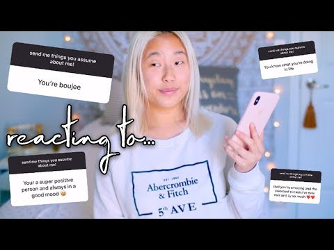 Reacting to Things People Assume About Me... | Alex Jayne