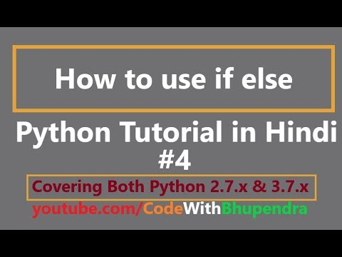 Python Programming Tutorial | How to use if else in Python | Hindi thumbnail