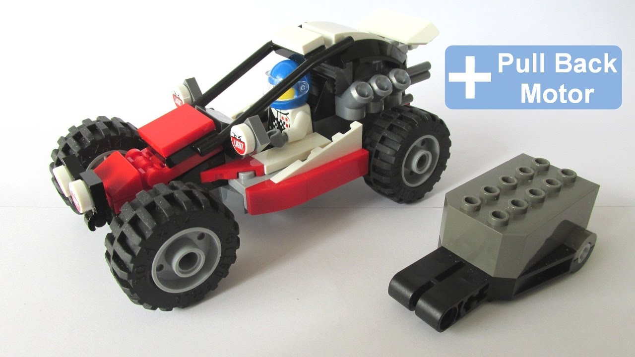 How to make lego 60145 buggy pull back motor youtube for How to create a motor
