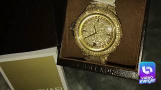 Michael Kors woman's Camille MK5720 gold stainless steel Japanese quartz fashion watch