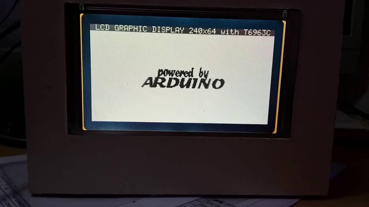 T6963c gLCD 240x128 Demo