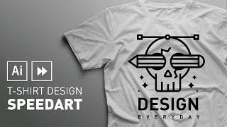 T-shirt Design | Adobe Illustrator Speedart