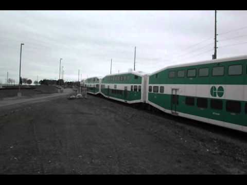 GO Trains at Barrie Allandale - remake (30 IV 2012)