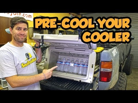 Keep Ice Longer by Pre-Cooling your Coolers