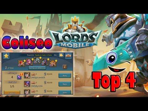Como Llegar // Top 4 // Coliseo // Sin Héroes De Paga - Lords Mobile
