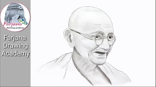 How to draw  Mahatma Gandhi step by step