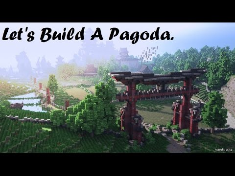 minecraft lets build a pagoda
