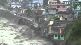 Uttrakhand Flood 2013 - Horrible flood building collapsed in Uttrakhand   Massive Flooding - India