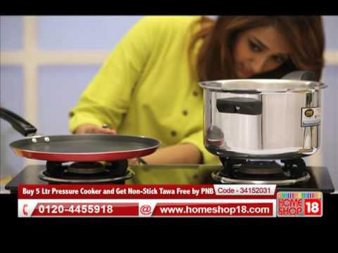 HomeShop18.com - Buy 5 Ltr Pressure Cooker and Get Non-Stick Tawa Free by PNB