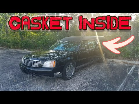 ABANDONED HEARSE WITH CASKET INSIDE (COPS SHOW UP)