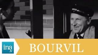 """Bourvil et Paul Meurisse tournent """"La grosse caisse"""" - Archive INA"""