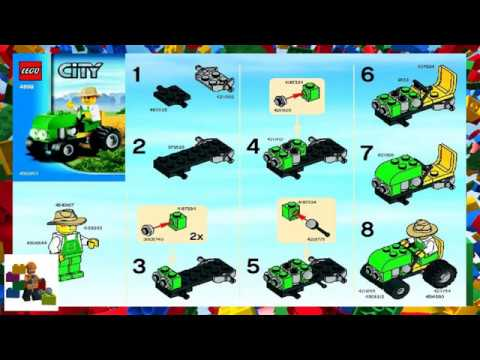 Lego Instructions City Farm 4899 Tractor Youtube