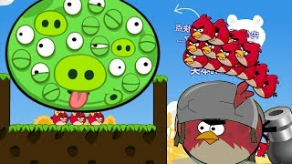 Angry Birds Cannon 3 - OVERDRIVE 100 BIRDS RUSHING TO 100 EYES PIG BY TERENCE!