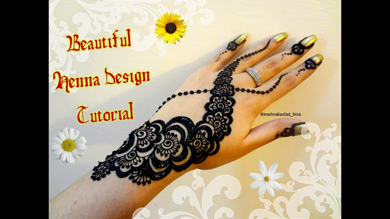 Mehndi design 2017 eid - How To Apply Easy Simple Dubai Gulf Henna Mehndi Designs For Hands Tutorial For Eid 2017
