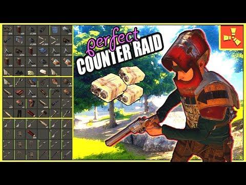 PERFECT Counter Raid?! - STEALING A RICH BASE From RAIDERS ( Rust Raids PvP )