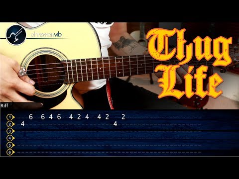 Como tocar la Canción del  THUG LIFE  con la Guitarra   Snoop Dogg The Next Episode   Tutorial TABS