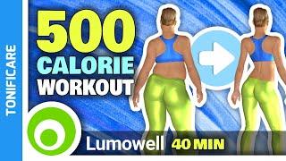Tonifica Tutto Il Corpo In Casa - Full Body Workout - 500 Calorie