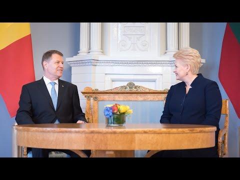 18 mai 2016 Declarație de presă comună cu Preşedintele Lituaniei, Dalia Grybauskaitė