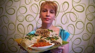 Как приготовить ханум с мясом рецепт Секрета блюда и вкусного рулета по узбекски(Как приготовить ханум по-узбекски очень быстро. Ингредиенты на рецепт ханума с мясом: Для теста - Мука 2 стак..., 2016-05-13T05:24:58.000Z)