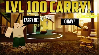 Roblox: LVL 100 ' CARRYING STARTERS IN DUNGEON! Quête de donjon