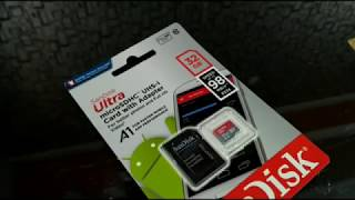 Sandisk A1 ULTRA Class 10 32gb card Review