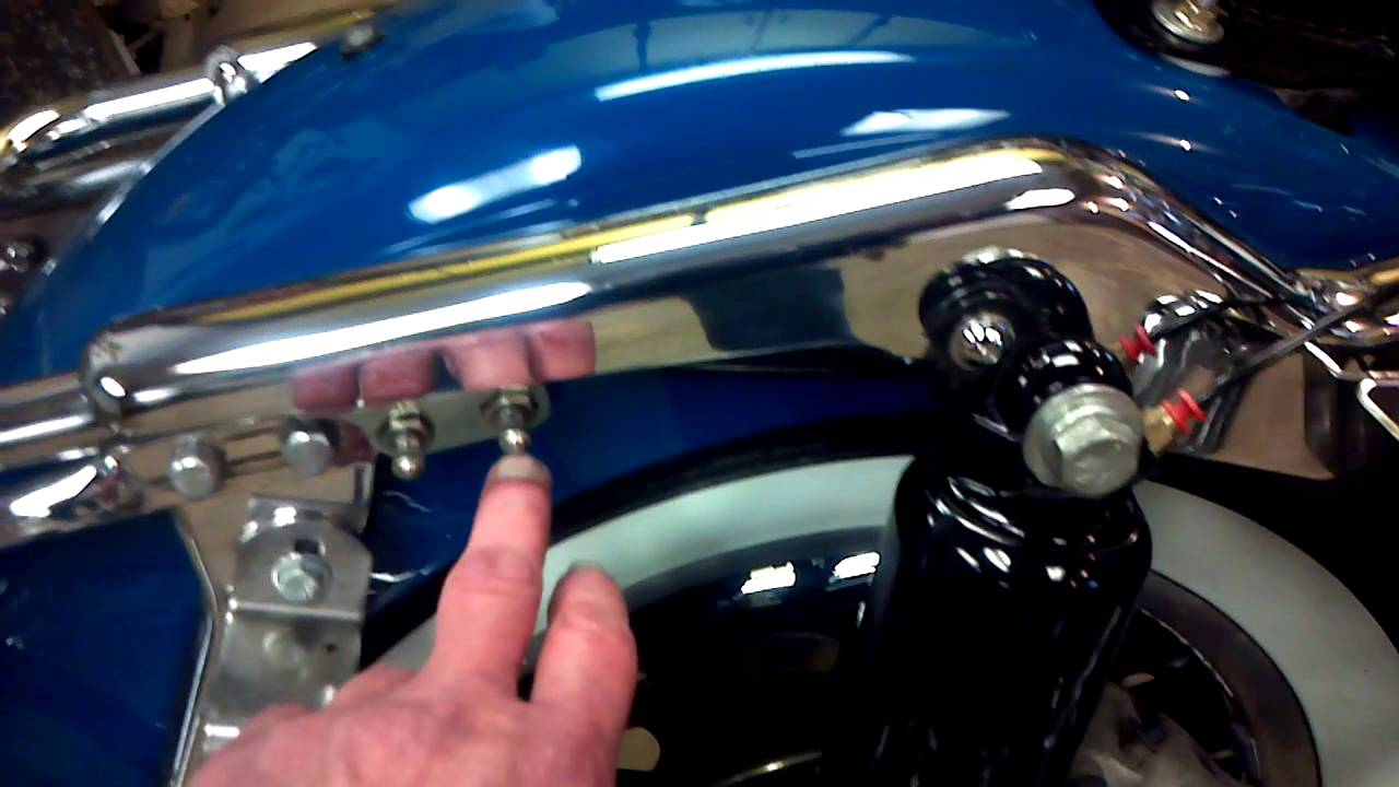 All Crash Parts >> 2001 Harley Road King rear hard side bag guard bolt locations..(non professional) - YouTube