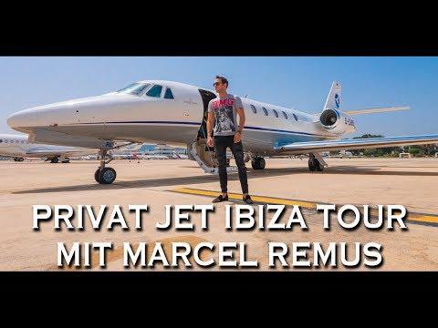 PRIVAT JET IBIZA TOUR MIT MARCEL REMUS