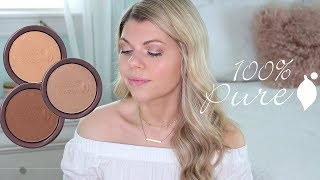 100% PURE BRONZER SWATCHES & REVIEW (ALL 3 SHADES!)