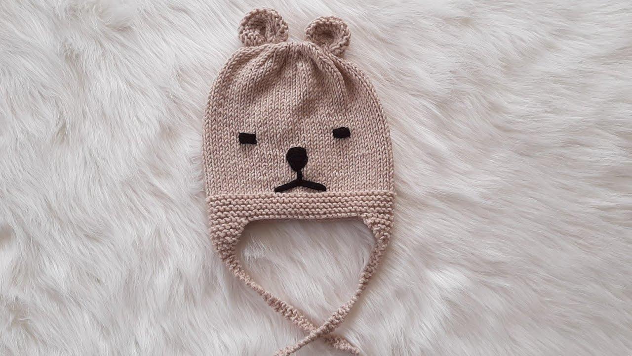 Kulaklı Bere Şapka Yapımı (Knit Eared Hat Making)