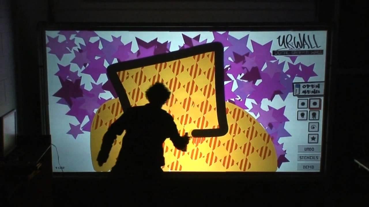 Interactive graffiti wall uk - Flow Events Rentals Digital Graffiti Wall