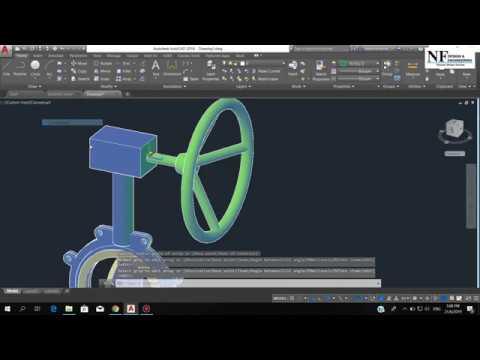 #013 I AutoCAD: 3D Modeling Butterfly Valve I Nazmi Ismail