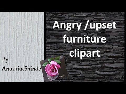Angry Upset Furniture Clipart