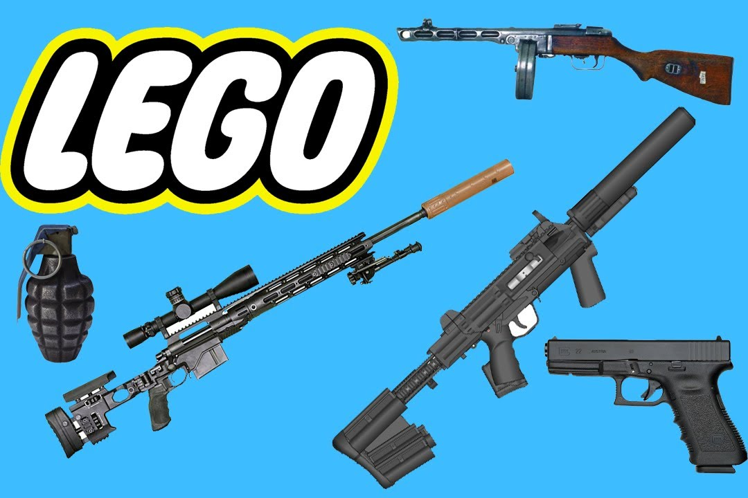 How to build some cool lego weapons - YouTube
