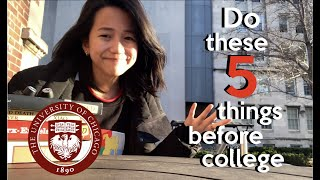 Pre-College Summer: Things to do BEFORE College!! | UChicago