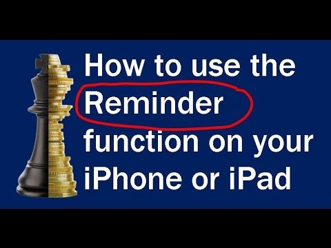 How to use the Reminder function on your iPhone or iPad