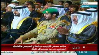 حمد بن عيسى: البحرين تسخر كافة إمكاناتها لخدمة مصر (فيديو)   المصري اليوم