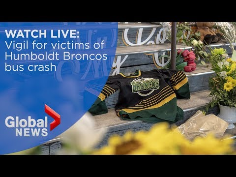 Vigil in honour of Humboldt Broncos bus crash victims