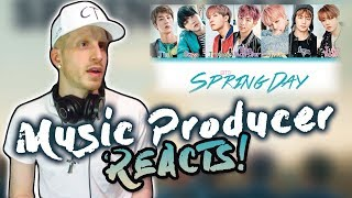 Video Music Producer Reacts to BTS - Spring Day!!! download MP3, 3GP, MP4, WEBM, AVI, FLV September 2018